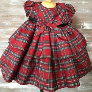 Plaid holiday dress size 6 months